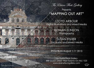 """Mapping out Art"" at Elaine Fleck Gallery"